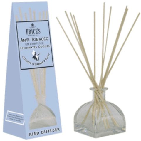 Price's Large Tobacco Wooden Reed Stick Scented Diffuser Jar